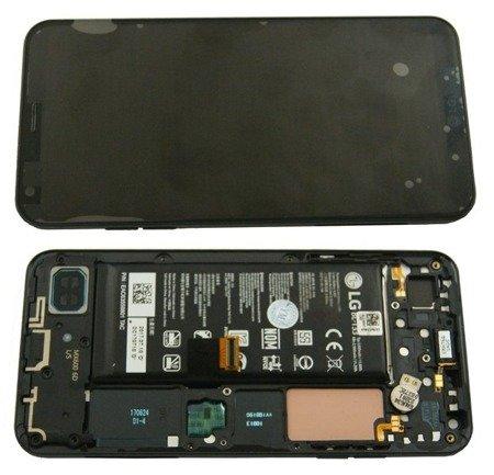 Lg Q6 M700N wyświetlacz LCD+digitizer dotyk ramka bateria czarny