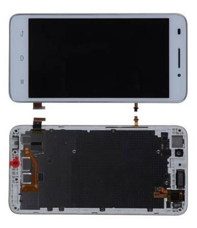 Wyświetlacz LCD+dotyk ramka Huawei G620S L01 biały